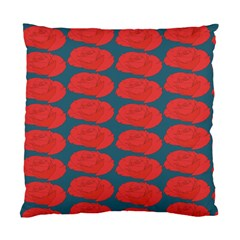 Rose Repeat Red Blue Beauty Sweet Standard Cushion Case (two Sides) by Alisyart