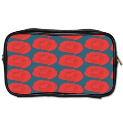 Rose Repeat Red Blue Beauty Sweet Toiletries Bags 2 Side