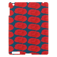 Rose Repeat Red Blue Beauty Sweet Apple Ipad 3/4 Hardshell Case by Alisyart