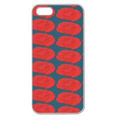 Rose Repeat Red Blue Beauty Sweet Apple Seamless Iphone 5 Case (clear) by Alisyart