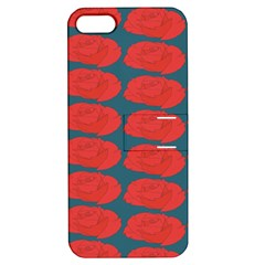 Rose Repeat Red Blue Beauty Sweet Apple Iphone 5 Hardshell Case With Stand