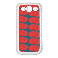 Rose Repeat Red Blue Beauty Sweet Samsung Galaxy S3 Back Case (white)