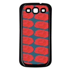 Rose Repeat Red Blue Beauty Sweet Samsung Galaxy S3 Back Case (black) by Alisyart