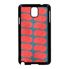 Rose Repeat Red Blue Beauty Sweet Samsung Galaxy Note 3 Neo Hardshell Case (black)