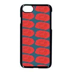 Rose Repeat Red Blue Beauty Sweet Apple Iphone 7 Seamless Case (black)