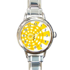 Weaving Hole Yellow Circle Round Italian Charm Watch by Alisyart