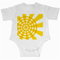 Weaving Hole Yellow Circle Infant Creepers by Alisyart