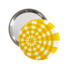 Weaving Hole Yellow Circle 2 25  Handbag Mirrors