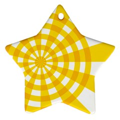 Weaving Hole Yellow Circle Star Ornament (two Sides)