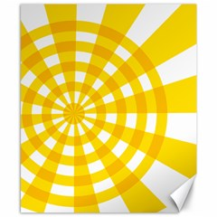 Weaving Hole Yellow Circle Canvas 8  X 10