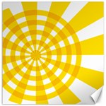 Weaving Hole Yellow Circle Canvas 16  x 16   16 x16 Canvas - 1