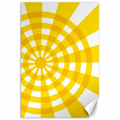 Weaving Hole Yellow Circle Canvas 20  X 30