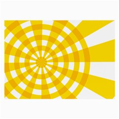 Weaving Hole Yellow Circle Large Glasses Cloth (2 Side) by Alisyart