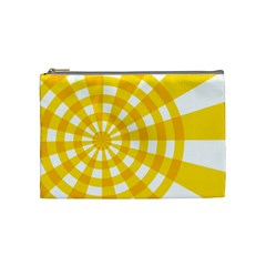 Weaving Hole Yellow Circle Cosmetic Bag (medium)  by Alisyart