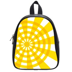 Weaving Hole Yellow Circle School Bags (small)  by Alisyart