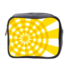 Weaving Hole Yellow Circle Mini Toiletries Bag 2 Side by Alisyart