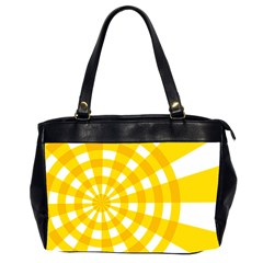 Weaving Hole Yellow Circle Office Handbags (2 Sides)