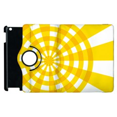 Weaving Hole Yellow Circle Apple Ipad 3/4 Flip 360 Case