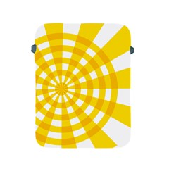 Weaving Hole Yellow Circle Apple Ipad 2/3/4 Protective Soft Cases by Alisyart