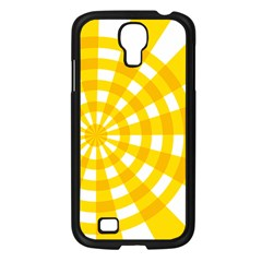 Weaving Hole Yellow Circle Samsung Galaxy S4 I9500/ I9505 Case (black) by Alisyart