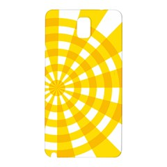 Weaving Hole Yellow Circle Samsung Galaxy Note 3 N9005 Hardshell Back Case by Alisyart
