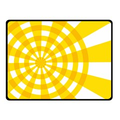 Weaving Hole Yellow Circle Double Sided Fleece Blanket (small)  by Alisyart