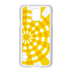 Weaving Hole Yellow Circle Samsung Galaxy S5 Case (white)