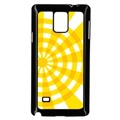 Weaving Hole Yellow Circle Samsung Galaxy Note 4 Case (black)