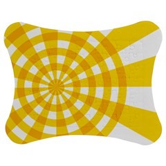 Weaving Hole Yellow Circle Jigsaw Puzzle Photo Stand (bow) by Alisyart