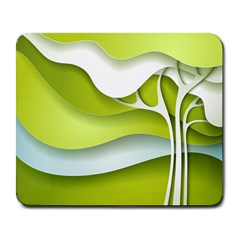 Tree Wood  White Green Large Mousepads by Alisyart