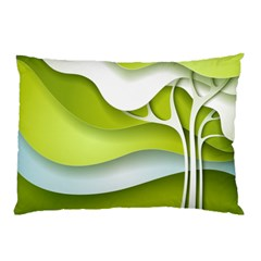 Tree Wood  White Green Pillow Case by Alisyart