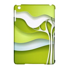Tree Wood  White Green Apple Ipad Mini Hardshell Case (compatible With Smart Cover)