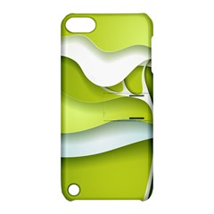 Tree Wood  White Green Apple Ipod Touch 5 Hardshell Case With Stand by Alisyart