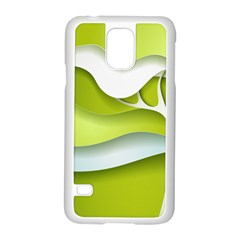 Tree Wood  White Green Samsung Galaxy S5 Case (white)