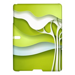 Tree Wood  White Green Samsung Galaxy Tab S (10 5 ) Hardshell Case