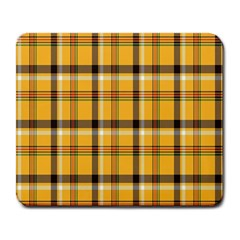 Plaid Yellow Line Large Mousepads
