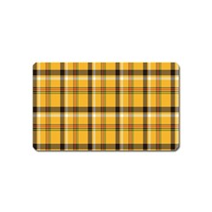 Plaid Yellow Line Magnet (name Card) by Alisyart