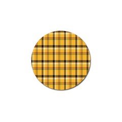 Plaid Yellow Line Golf Ball Marker (10 Pack)
