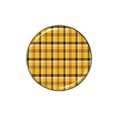 Plaid Yellow Line Hat Clip Ball Marker by Alisyart