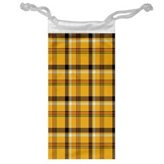 Plaid Yellow Line Jewelry Bag