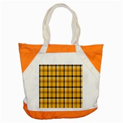 Plaid Yellow Line Accent Tote Bag by Alisyart