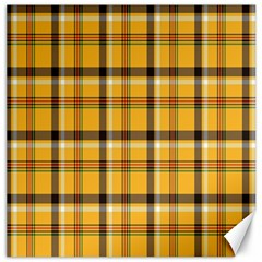 Plaid Yellow Line Canvas 16  X 16   by Alisyart