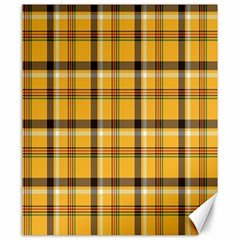 Plaid Yellow Line Canvas 20  X 24