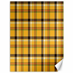 Plaid Yellow Line Canvas 36  X 48   by Alisyart