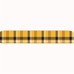 Plaid Yellow Line Small Bar Mats by Alisyart