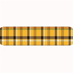 Plaid Yellow Line Large Bar Mats by Alisyart