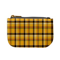 Plaid Yellow Line Mini Coin Purses