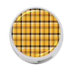 Plaid Yellow Line 4 Port Usb Hub (two Sides)  by Alisyart