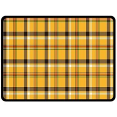 Plaid Yellow Line Fleece Blanket (large)