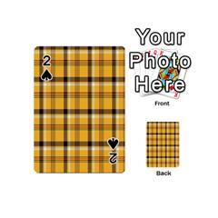 Plaid Yellow Line Playing Cards 54 (mini)  by Alisyart